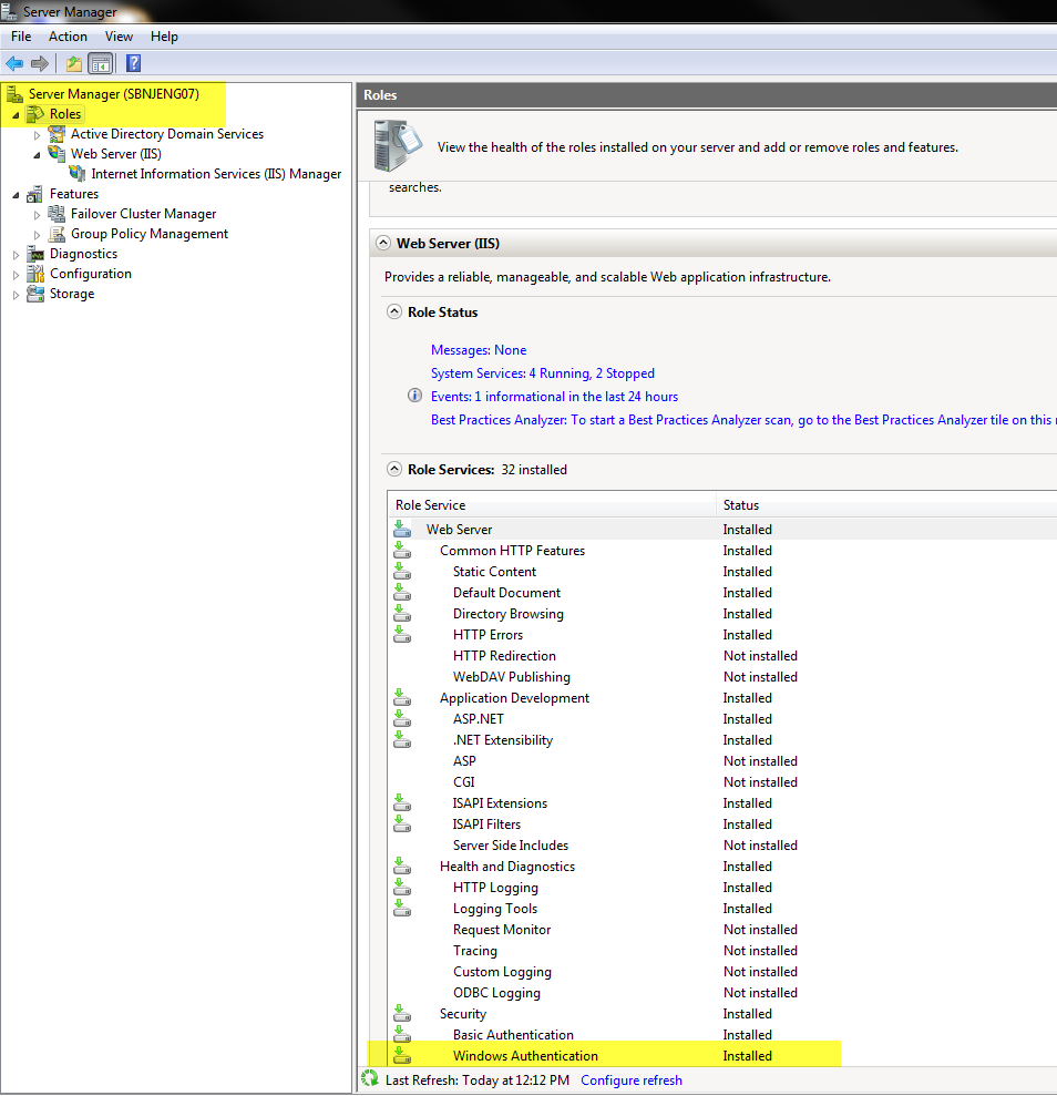 IIS Server Manager