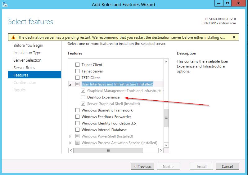 Windows Add Featuers