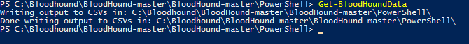 Example of PowerShell command to get BloodHound data