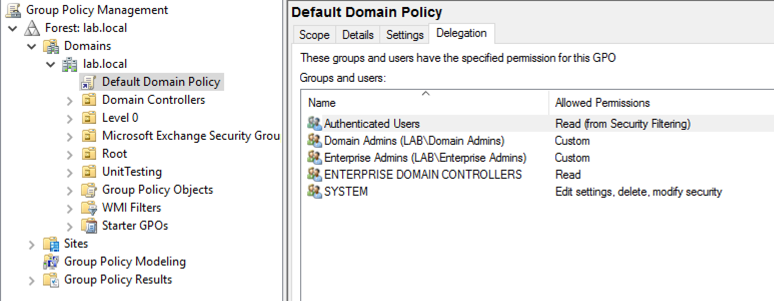 audit and control Write access to any group policy applied to DCs or servers with applications that have domain privileged access