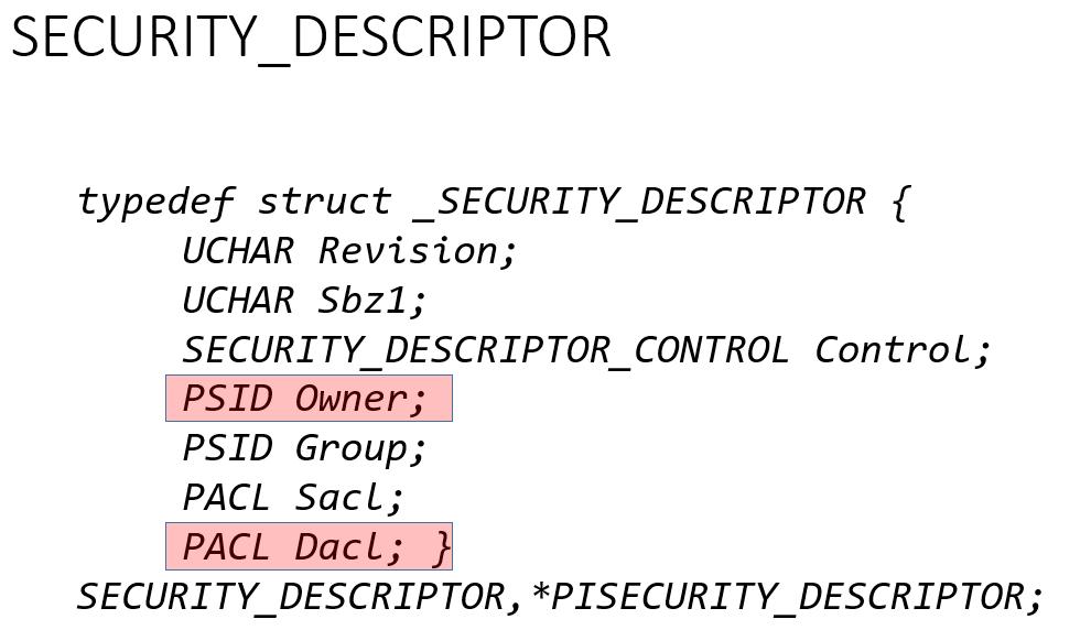 Discretionary access control list (DACL)