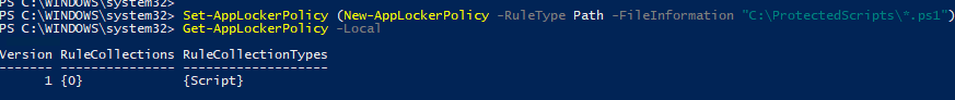 Create an AppLocker rule with Applocker Allow for a New-AppLockerPolicy using Set-AppLockerPolicy and Get-AppLockerPolicy to ensure only files for a specified folder can be executed