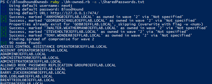 Importing shared password accounts with BloodHound-Owned