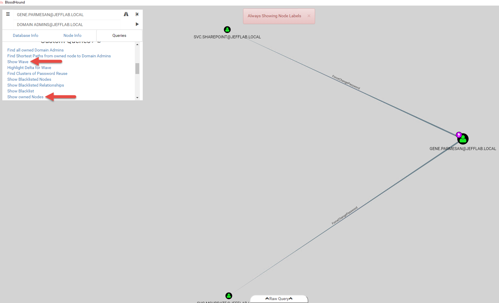 Viewing Wave of Owned accounts in BloodHound-Owned