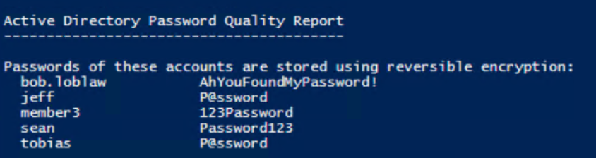 Viewing the AD Password Quality Report with the DSInternals and Test-PasswordQuality