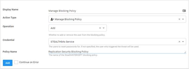 StealthINTERCEPT Blocking Policies
