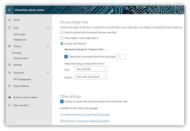 Open Access in SharePoint 6