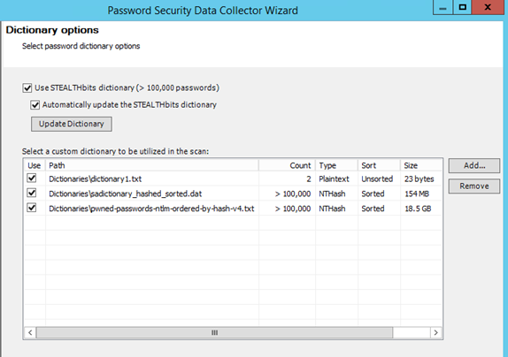 StealthAUDIT's New Password Security Interface