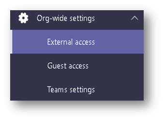 External Access Tab
