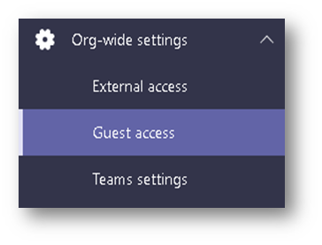 Guest Access Tab