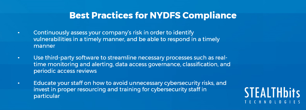 Best Practices for NYDFS Compliance