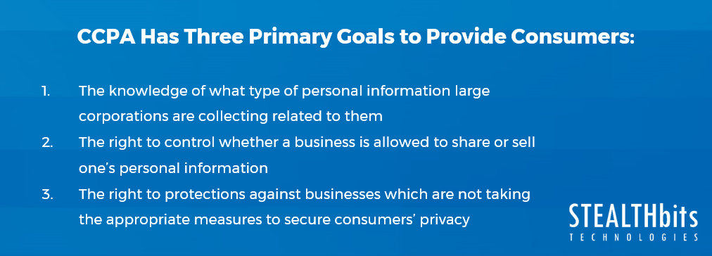 Three primary goals of CCPA