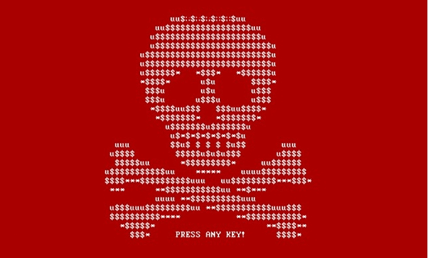A typical message displayed during a Ransomware attack