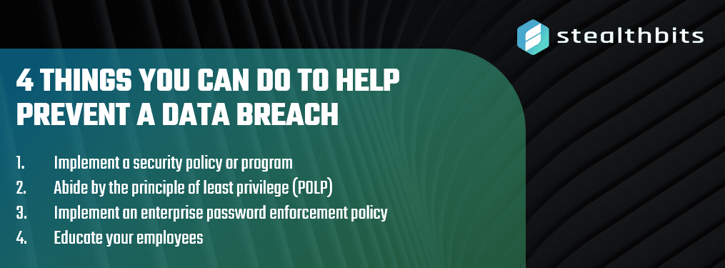 4 Things you can do to help prevent a data breach