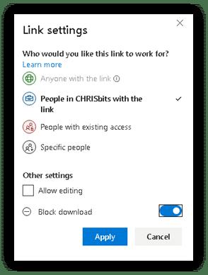 SharePoint Online Settings