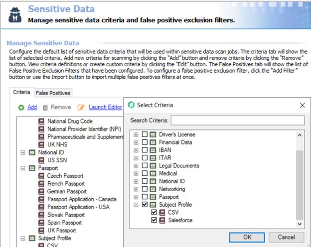 Sensitive Data Job