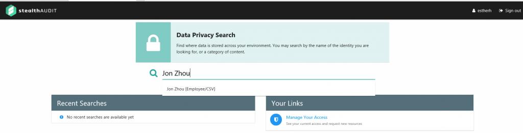 Data Privacy Search