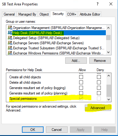 Special Permissions